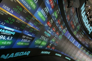 NASDAQ Stock Market screens