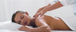 A woman receving massages