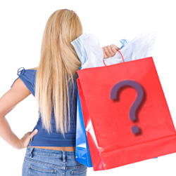 A girl working as mystery shopper
