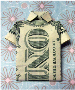 a shirt made with a dollar