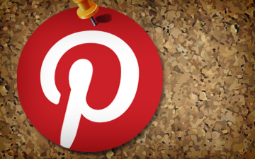 Pinterest logo on a board