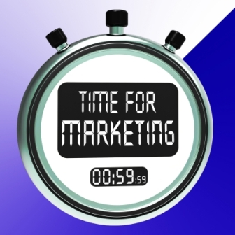Time For Marketing written on a watch