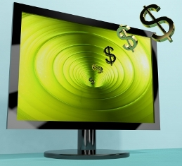 Dollar Symbols Coming From Screen