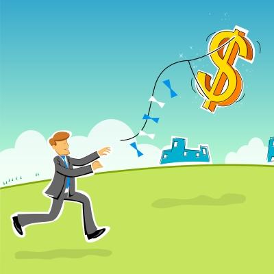 Cartoon Businessman With Dollar