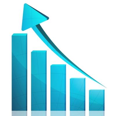 Business Graph Growth Blue Arrow