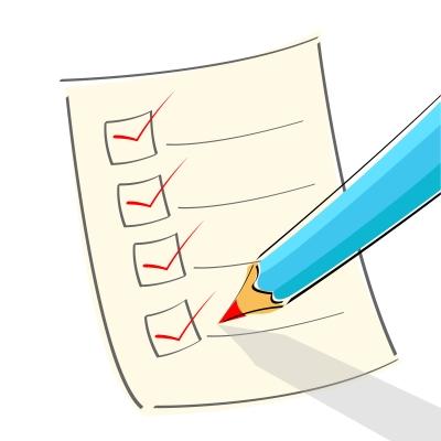 Right Sign checklist