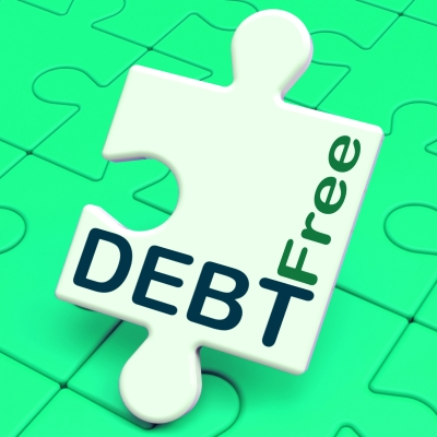 Debt Free Puzzle Means Financial Freedom And No Liability