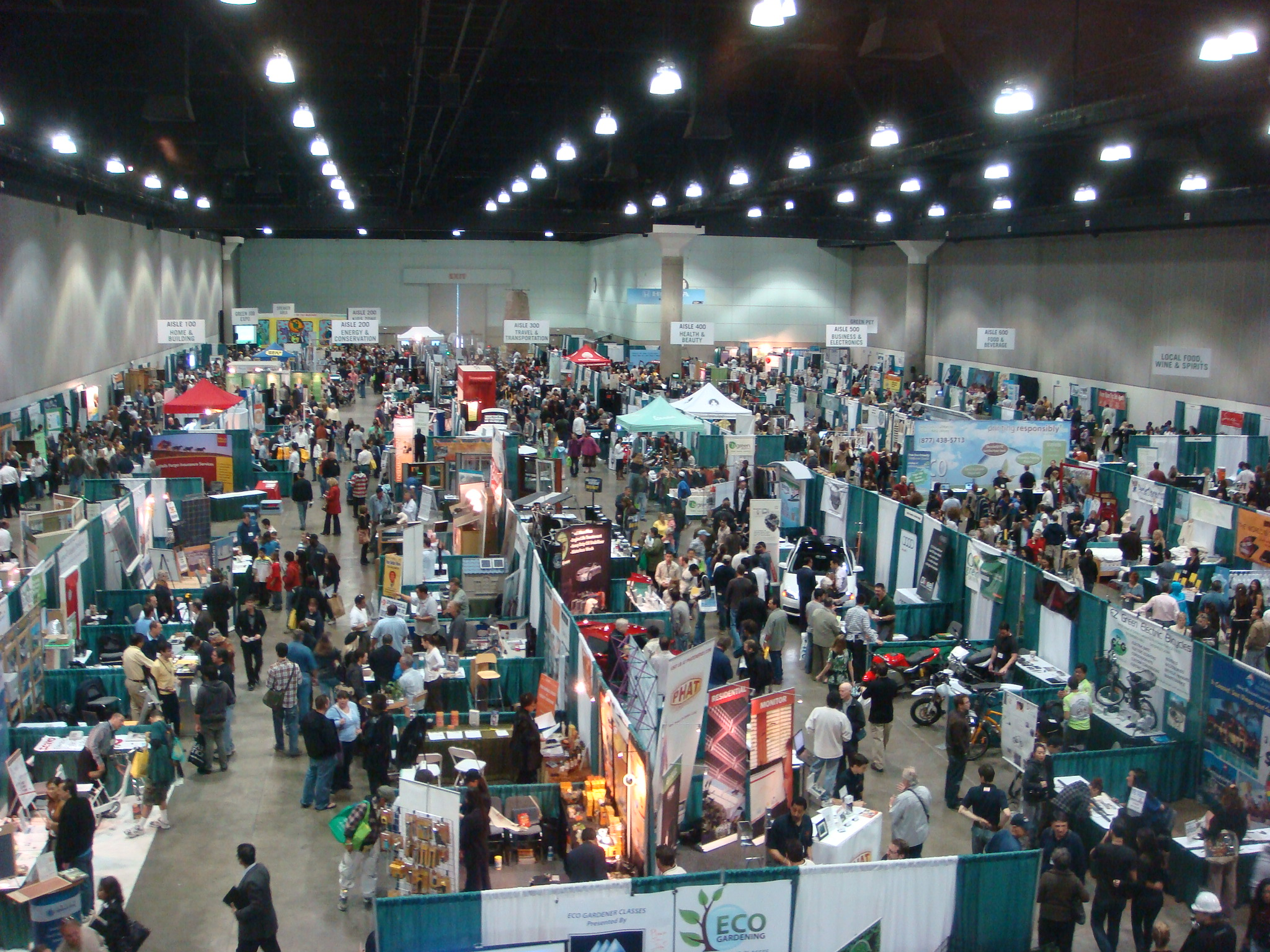 trade show from above