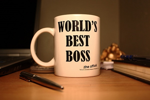 world best boss mug