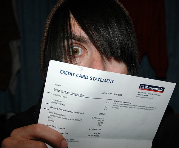 guy showing bills